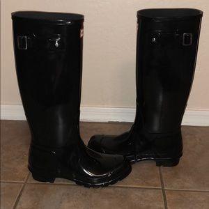 New Hunter Tall Gloss Boot Wellies Shoes sz 7